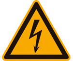 Gefahrensymbole, Warnschilder