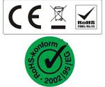 RoHS-, WEEE- und CE-Schilder