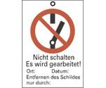 Sicherheitsschilder