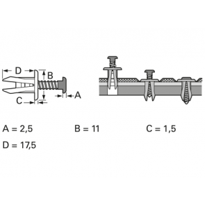 5x lockwasher Unterlegscheiben und nuts FOR american jacks und Potentiometer