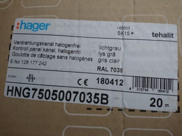 HNG7505007035B Verdrahtungskanal Lichtgrau RAL 7035 Hager