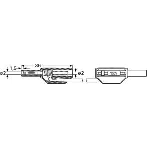 SLK205-K 0,6M SCHWARZ