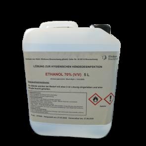 Hygienische Händedesinfektion 5 Liter Angebot