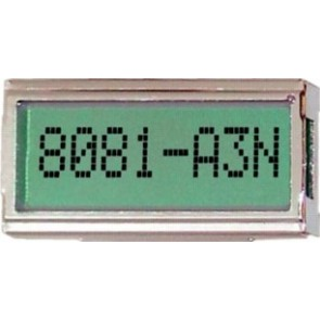 EA8081A3N, LCD Modul, 1x8 - ZH 7,15mm, inkl. Kontroller HD 44780, Textdisplay 1x8 Zeichen